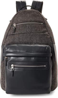 American Designer Dark Heather Grey Color Block Backpack
