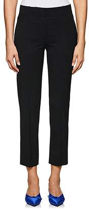 Barneys New York Women's Stretch-Wool Flat-Front Crop Trousers - Black