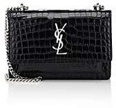 Saint Laurent Women's Monogram Sunset Leather Chain Wallet-Black