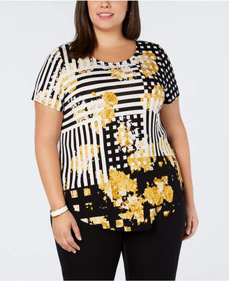 Alfani Plus Size Printed T-Shirt