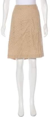 Talbot Runhof Eyelet Knee-Length Skirt w/ Tags