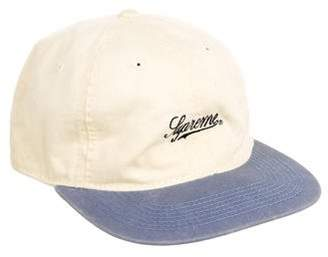 Supreme Washed Twill Fitted Cap