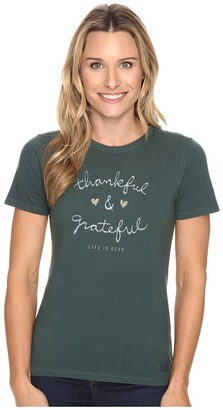 Life is good Thankful & Grateful Crusher Tee $26 thestylecure.com