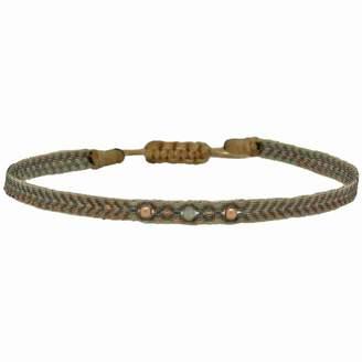 LeJu London - Grey Diamond Wrap Bracelet With Rose Gold Filled Detail