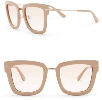 Tom Ford Lara 52mm Square Sunglasses