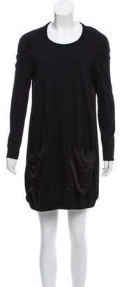 Clu Silk-Accented Mini Dress