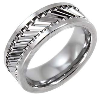 Unbranded Men's Tungsten 8MM Gear Pattern Wedding Band - Mens Ring