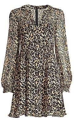 Nanette Lepore Women's Cactus Animal Print Fit-&-Flare Dress