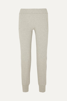 Norma Kamali Cropped Striped Stretch-cotton Jersey Track Pants