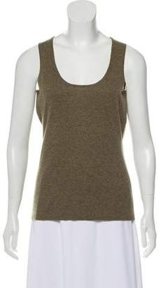 Neiman Marcus Sleeveless Cashmere Top