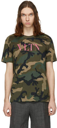 Valentino Green Camo VLTN T-Shirt