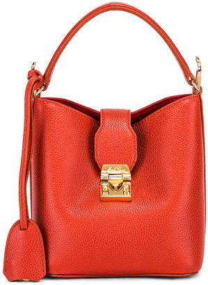 Mark Cross Murphy Mini Bucket Bag in Papaya | FWRD