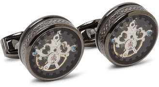 Tourbillon Gear Gunmetal-Plated Cufflinks