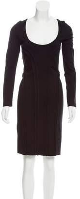 Prada Long Sleeve Knee-Length Dress