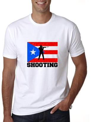 Hollywood Thread Puerto Rico Olympic - Shooting - Flag Men's T-Shirt