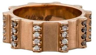 18K Diamond Gear Ring