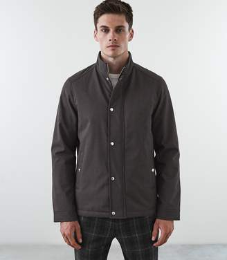 Reiss Our last order date for Christmas has now passed HEATH ZIP THROUGH JACKET Grey