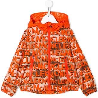 Moncler logo print hooded jacket