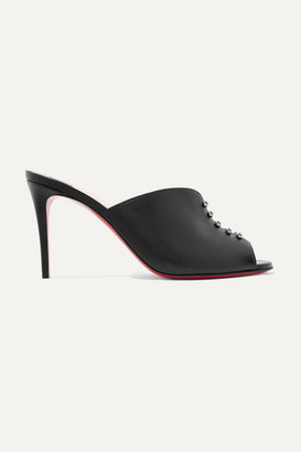 Christian Louboutin Predumule 85 Studded Leather Mules - Black