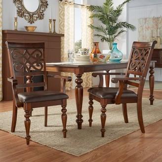 Weston Home Arm Chair , Set of 2, Rich Cherry