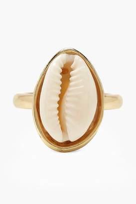 boohoo Cream Shell Statement Ring