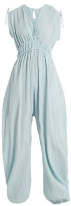 Loup Charmant - Delfines Cotton Jumpsuit - Womens - Blue