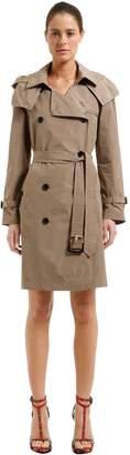 Burberry Hooded Nylon Trench Coat