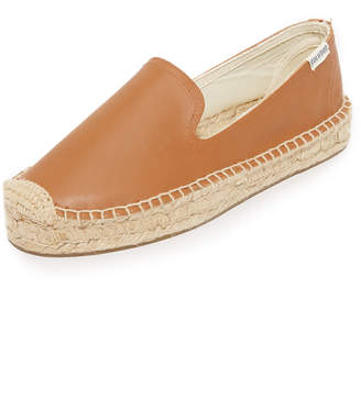 Soludos Platform Leather Smoking Slippers $99 thestylecure.com