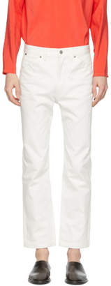 Lemaire White Five-Pocket Straight-Leg Jeans
