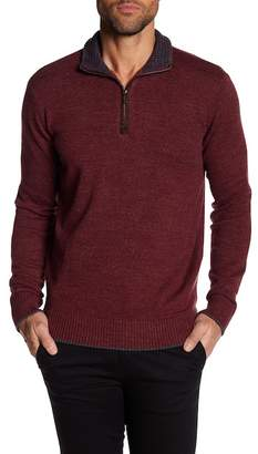 Robert Graham Stand Up Collar Quarter Zip Down Pull Over Sweater