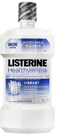 LISTERINE Whitening Vibrant Clean Fluoride Anticavity Mouthwash Mint