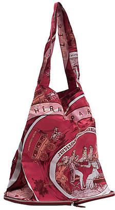 One Kings Lane Vintage HermAs Burgundy Silky Pop Chevre Bag - Vintage Lux