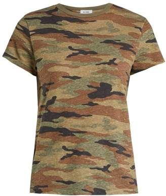 Hanes Re/Done Originals Re/done Originals - X Camouflage Print T Shirt - Womens - Dark Green