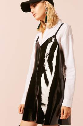 Forever 21 Faux Patent Leather Grommet Dress