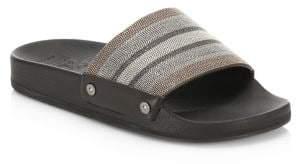 Brunello Cucinelli Embellished Leather Flip-Flops
