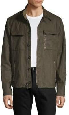 John Varvatos Mockneck Utility Jacket