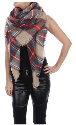 Fashionable ONLINE Women's Winter Warm Large Tartan Blanket Plaid Scarf Wrap Shawl