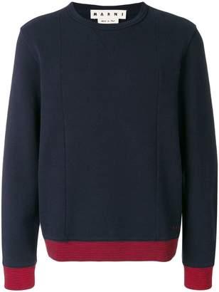 Marni contrast trim sweatshirt