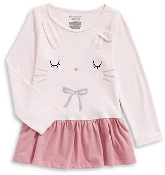 First Impressions Baby Girl's Bunny Cotton Peplum Dress