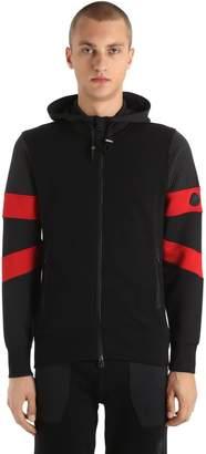 Hydrogen Cyber Hooded Zip-Up Cotton Sweatshirt