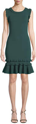 Sachin + Babi Priscilla Knit Dress w/ Ruffle Trim