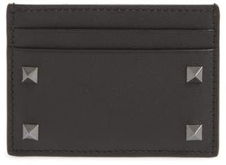 Valentino Stud Leather Card Case
