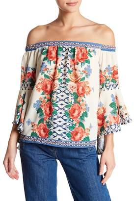 Flying Tomato Floral Print Off-the-Shoulder Blouse
