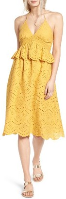 Women's Moon River Halter Eyelet Midi Dress $95 thestylecure.com