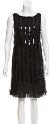 Philosophy di Alberta Ferretti Sleeveless Sequin Knee-Length Dress