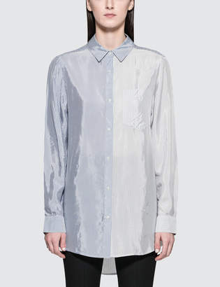 Alexander Wang.T Shiny Striped Shirting L/S Button Down