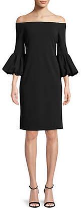 Eliza J Off The Shoulder Bell Sleeve Sheath Dress
