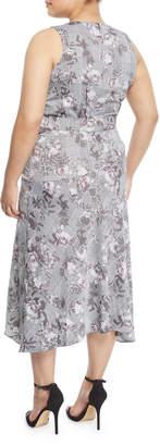 Rachel Roy Giles Check Midi Dress, Plus Size
