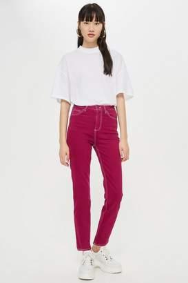 Topshop Cassis Clean Hem Straight Leg Jeans
