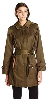 Jones New York Women's Center Front Zip Trench $35.33 thestylecure.com